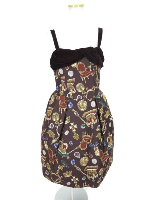 【中古】Jane Marple / ロイヤルコレクションゴブランジャンパースカート ジェーンマープル B15040_1809