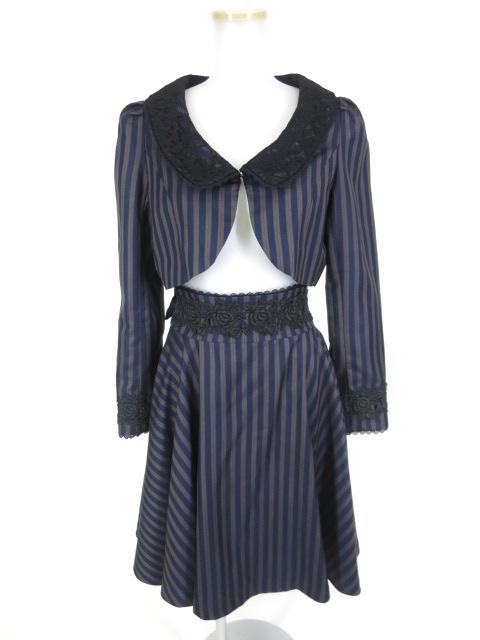 【中古】Sheglit / Eleanor レジメンタルストライプボレロ&スカートセット シェグリット B16080_1907