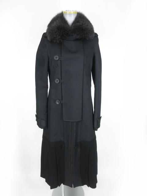 【中古】Jean Paul GAULTIER / フォックスファー付き裾プリーツロングコート ジャンポールゴルチエ B17705_1812