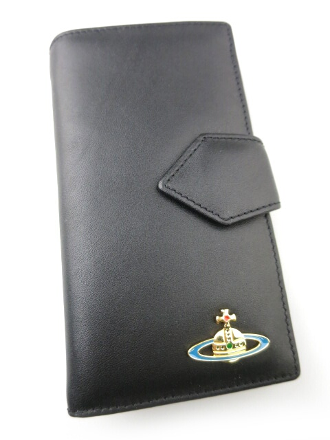 Vivienne Westwood / ミニ長財布 4733VW118 NAPPA ヴィヴィアンウエストウッド 黒 ブラック (内側レッド) B16526_1902