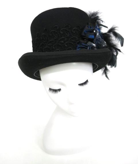 【中古】corgi-corgi / ローズ&フェザー付きシルクハット コーギーコーギー 帽子 B19485_1903