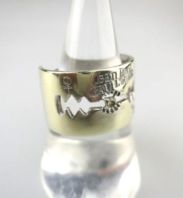 【中古】Jean Paul GAULTIER / カミソリリング(K10ホワイトゴールド&0.03ctダイヤ) ジャンポールゴルチエ B21688_1906