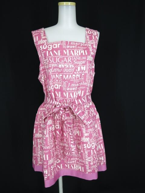 Jane Marple / シュガーロゴのエプロンドレス ジェーンマープル ワンピース B22464_1906