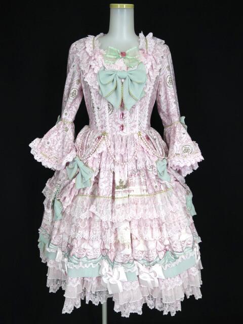 【中古】Angelic Pretty / Antoinette Decoration Dress set (ワンピース+ヘッドドレス) アンジェリックプリティ アントワネットデコレーションドレスセット B25975_1912