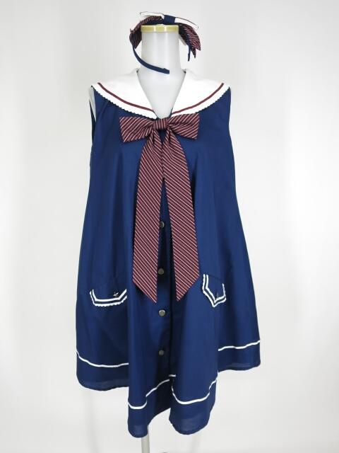 【中古】Angelic Pretty / クラシックスクールノースリーブワンピース&カチューシャ アンジェリックプリティ B26905_1911