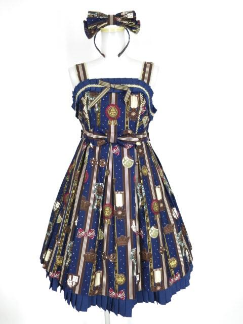 【中古】Angelic Pretty / Chocolate Rosetteジャンパースカート&カチューシャ アンジェリックプリティ B28282_1912