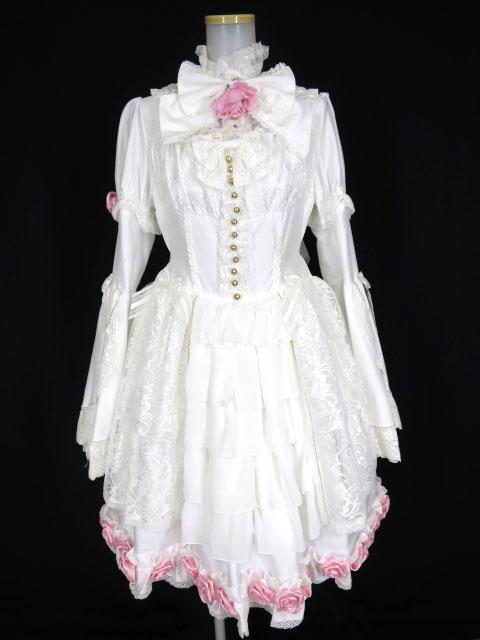 2020最新のスタイル 【】ALICE and the PIRATES / ミルクティドール ドレス set (ボンネット、つけ衿、ジャンパースカート) アリスアンドザパイレーツ B28299_1912, ハニーミント c40d9d6e