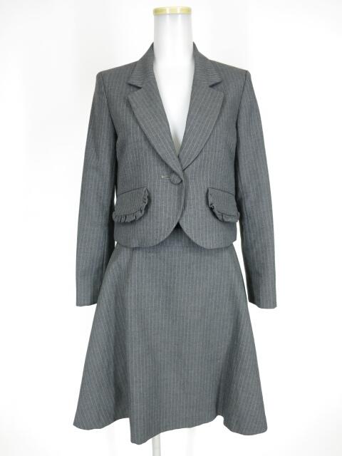 【中古】MILK / プチフリルジャケット&スカート スーツ ミルク B28378_2001