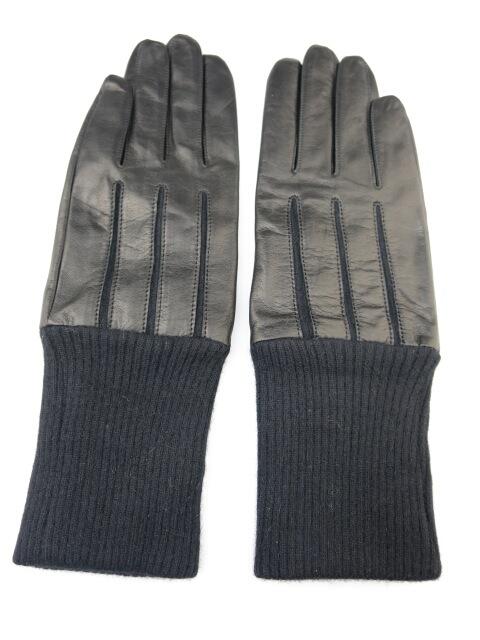 【中古】Jean Paul GAULTIER / ニットリブ付きレザー手袋 ジャンポールゴルチエ メンズ B30364_2003
