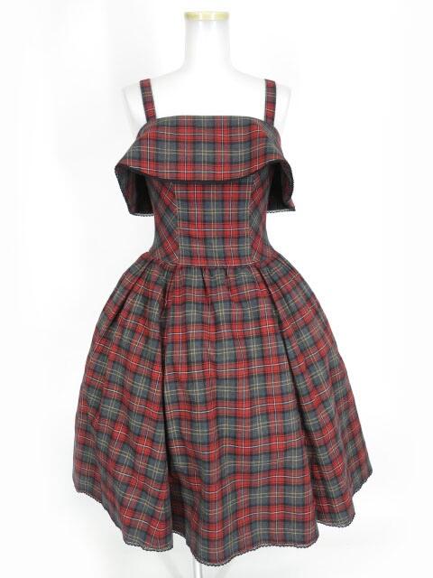 【中古】Victorian maiden / ブリティッシュチェックケープドレス ヴィクトリアンメイデン ワンピース B31204_2003