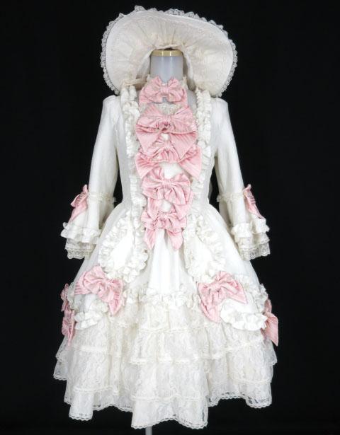 【中古】Angelic Pretty / ポンパドゥールDress Set (ドレス・チョーカー・ボンネット) アンジェリックプリティ B32891_2006