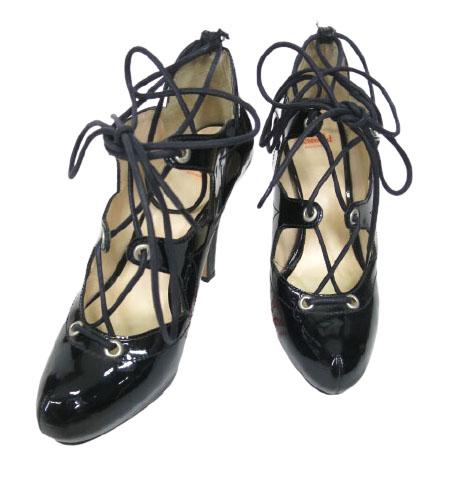 中古 Vivienne Westwood 買物 エナメルクラシックギリーシューズ ヴィヴィアンウエストウッド 38 靴 無料サンプルOK 黒 B33914_2010 24cm ハイヒール