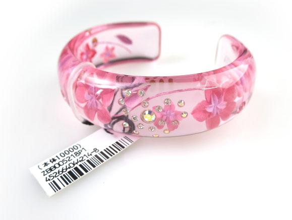 ブレスレット 国産品 バングル 完売 腕輪 ANNA アナスイ 桜クリアバングル SUI B42451_2108