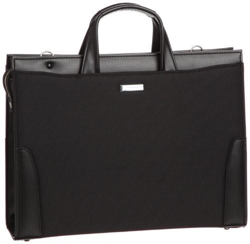 [バジェックス] BAGGEX 鋼 ナイロン製ビジネスブリーフ A4ファイル対応 日本製 24-0274 BK (BLACK) ギフトブリーフケース ビジネスバッグ メンズ