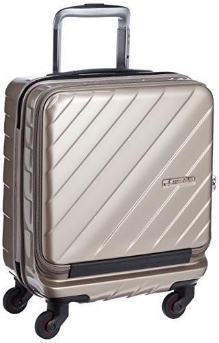 [ヒデオワカマツ] スーツケース マックスキャビンウェーブ コンロッカー対応 容量25L 縦サイズ45cm 重量2.8kg 85-76339 9 ゴールド ギフトハードケース ハードスーツケース