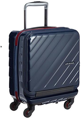 ヒデオワカマツ HIDEO WAKAMATSU スーツケース マックスキャビンウェーブ コインロッカー対応 容量25L 縦サイズ45cm 重量2.8kg 85-76332 2 ネイビー 紺ハード フロントオープン TSAロック 旅行 トラベル 出張 プレゼント ギフト