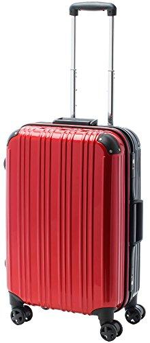 [アクタスツートンハード] ACTUS フレームタイプ スーツケース74-20253 約52L (レッド) ギフトハードケース ハードスーツケース
