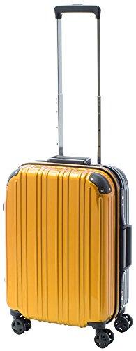 [アクタスツートンハード] ACTUS フレームタイプ スーツケース 74-20247 約33L (イエロー) ギフトハードケース ハードスーツケース