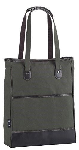 [日本製(豊岡生産)] 鞄の國 帆布トートバッグ タテ型53414-02 (カーキ) ギフト