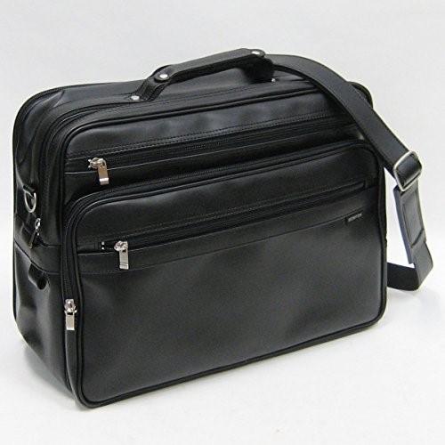 BROMPTON 合皮ショルダーバッグ横型【40cm B4サイズ対応・Y付・日本製・豊岡製】16274-01クロ ギフト