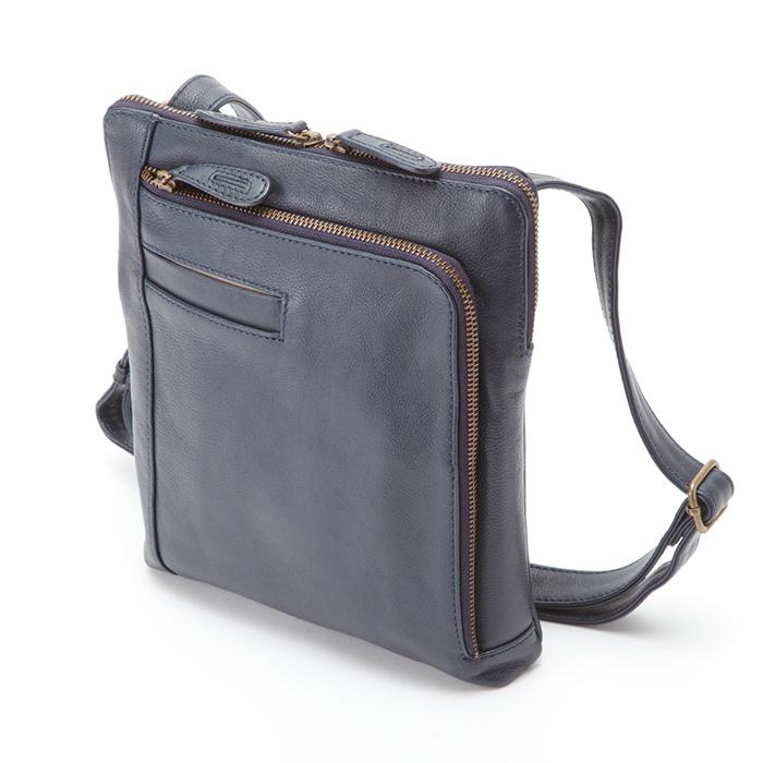 平野 日本製 豊岡製鞄 ショルダーバッグ 牛革 オイルレザー A5ファイルハミルトン HAMILTON 22.5cm #16420 プレゼントギフト 紺