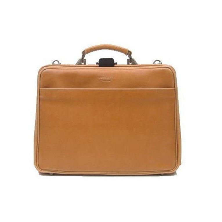 平野 日本製 豊岡製鞄 大開ダレス ビジネスバッグ 白化合皮 #22299 ブレリアス BRELIOUS 42cm キャメル