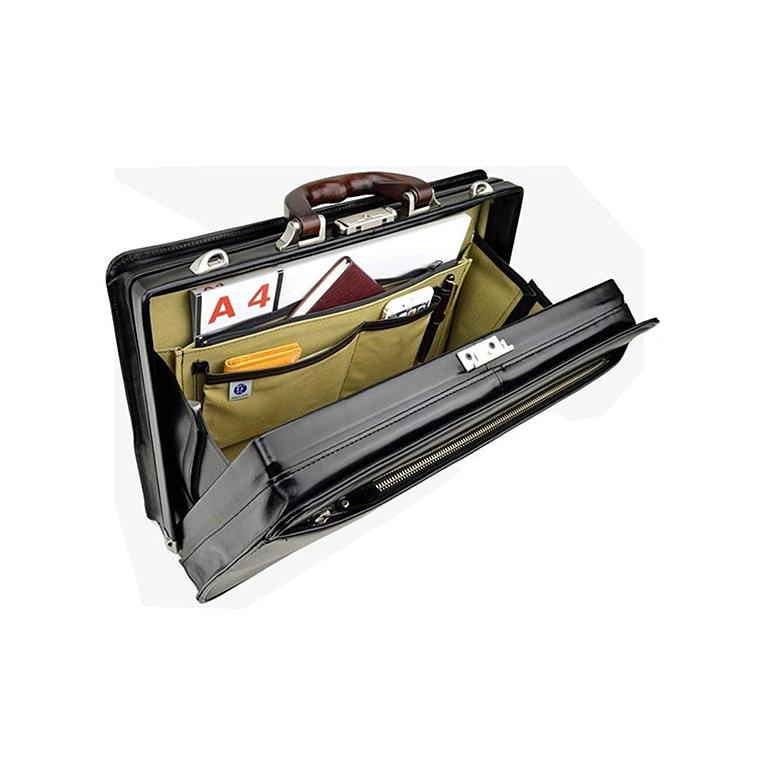平野 ダレスバッグ ビジネスバッグ カジュアルバッグ本革 メンズ A4 豊岡製鞄 日本製 大開き 三方開き 42cm 22303 黒 サドル SADDLE