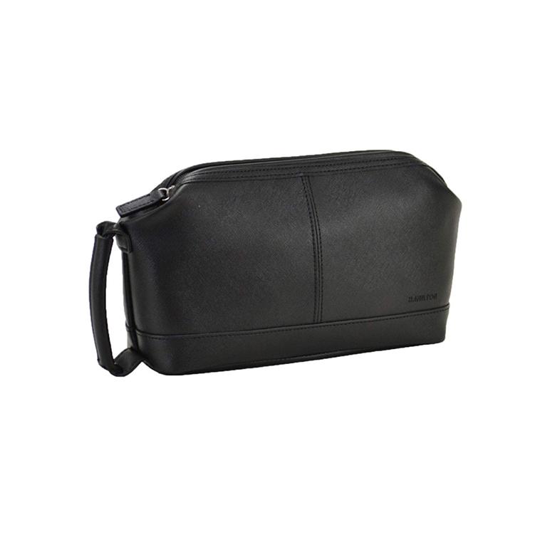 平野 セカンドバッグ ビジネスバッグ ポーチ角シボシリーズ ハミルトン HAMILTONA5 ダレス型 26cm #25870 プレゼント ギフト 黒