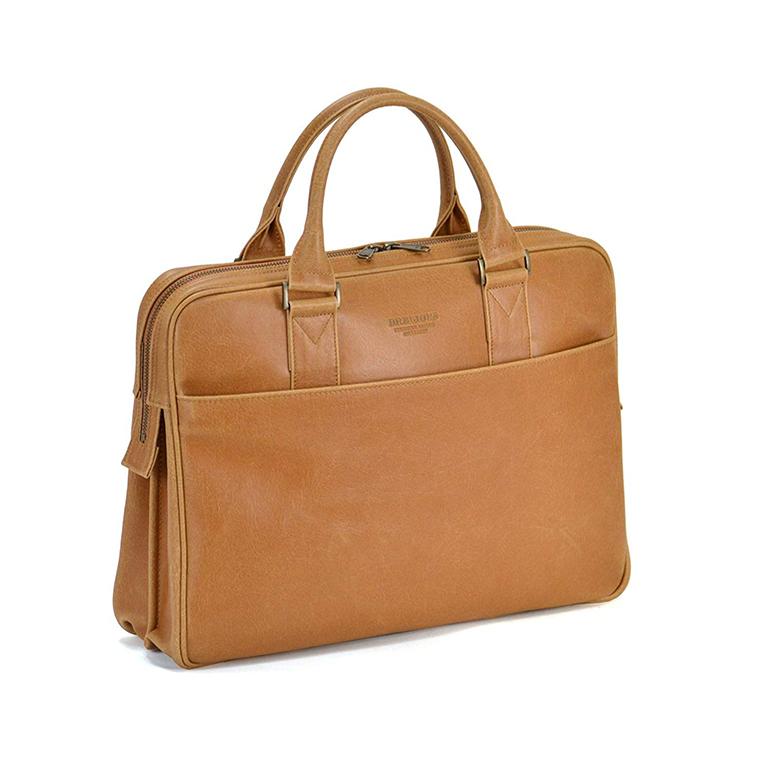 平野 日本製 豊岡製鞄 ブリーフケース ビジネスバッグ 白化合皮 #26624 B4サイズ ブレリアス BRELIOUS 40cm キャメル