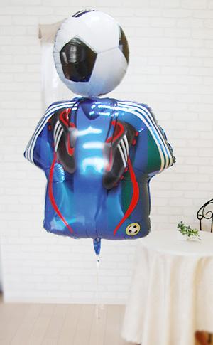 サッカー バルーン 電報☆SAMURAI BLUE