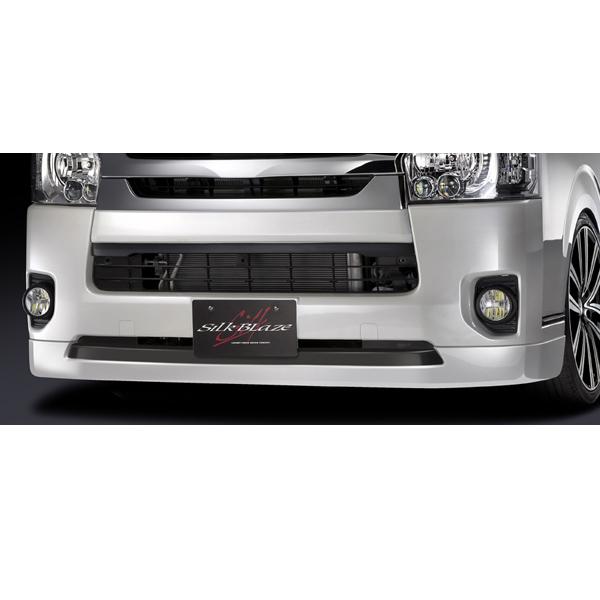SilkBlaze シルクブレイズ エアロ【200系ハイエース 4型 (標準車)】フロントスポイラーVer.3(未塗装)[代引き不可商品]