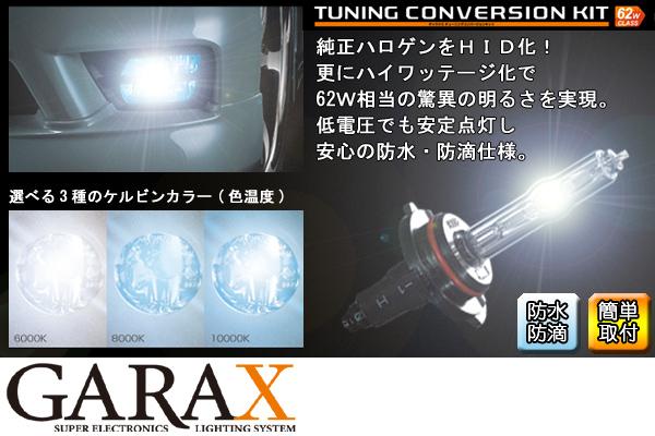 GARAX ギャラクスHIDチューニングコンバージョンキット[H4(Hi/Low切替)]