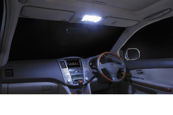 GARAXギャラクス30系ハリアー/ムーンルーフ装着車LEDルームランプ9Pセット(SuperShine)