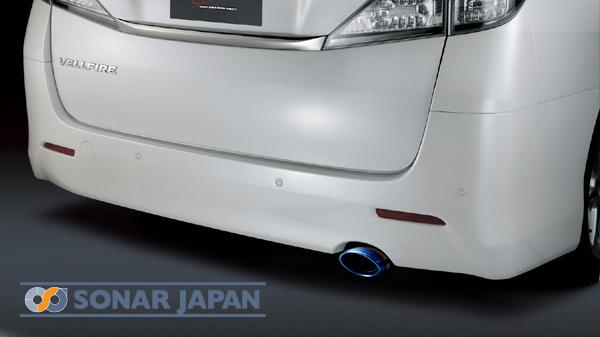 リアエンドに高級感を演出 オールステンレスオーバルマフラーカッター SilkBlaze シルクブレイズマフラーカッター オーバルタイプ チタン 日本製 お求めやすく価格改定 ヴェルファイア 前期 20系アルファード 後期