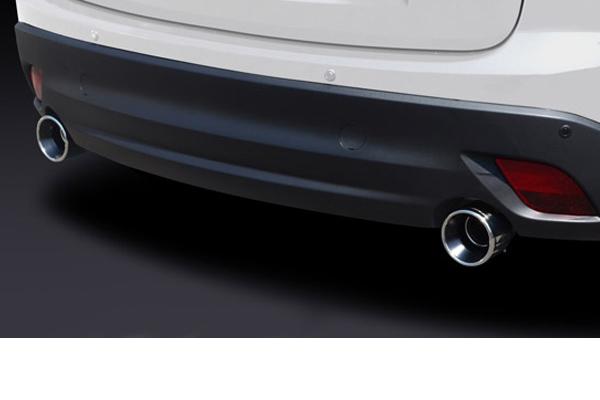 SilkBlaze シルクブレイズ【マツダ CX-5】マフラーカッター 真円タイプφ100/ロング/シルバー