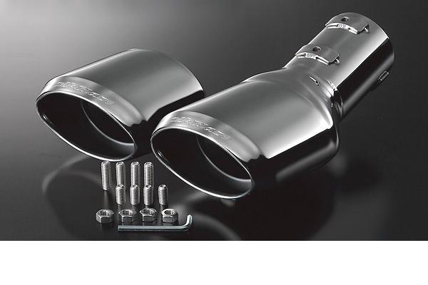 SilkBlaze シルクブレイズ【30系アルファード/ヴェルファイア】[2.5L/2WD S/Zグレード]マフラーカッター ユーロダブルタイプ/シルバー