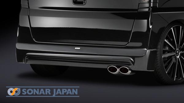 SilkBlaze シルクブレイズLynxエアロ装着車専用マフラーカッターユーロタイプ(ダブル)/シルバー【N BOX JF1/2(NA)】