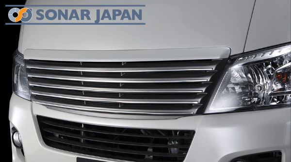 SilkBlaze シルクブレイズ プレミアムライン エアロ日産 NV350 キャラバン E26 【標準幅】フロントグリル(未塗装)[代引き不可商品]