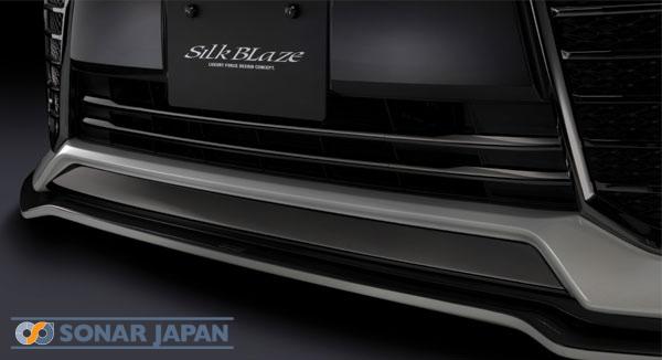 SilkBlaze シルクブレイズ30系ヴェルファイア前期フロントバンパーグリルクロームモール/ダークメッキ
