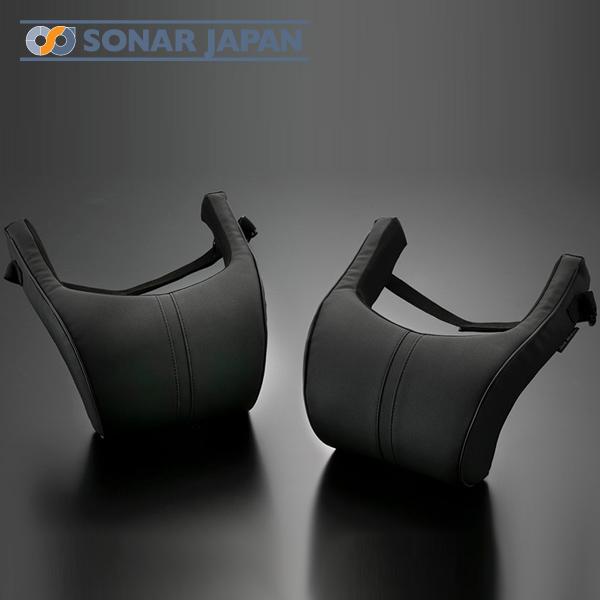 安心の実績 超激安特価 高価 買取 強化中 低反発の心地よい感触が気持ちいい 長時間ドライブにも最適な車載用ネックパッド SilkBlaze シルクブレイズ汎用 ネックパッド PVCレザー ブラックパイピング 2個セット