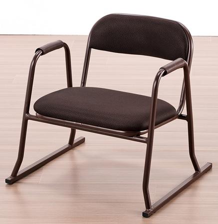 送料無料 北海道 沖縄 離島は除く 肘付きお座敷チェアー お詣り椅子 お寺椅子 いす 肘付きチェアー 送料無料お手入れ要らず 椅子 4脚セットチェア T05-56BR イス 返品不可
