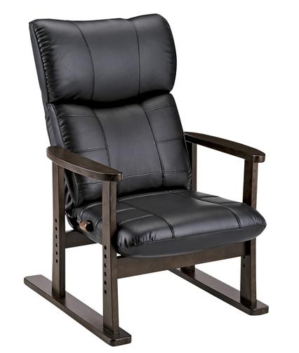 【北海道・沖縄・離島は別途追加送料かかかりますので、ご注意ください】スーパーソフトレザー高座椅子-大河- YS-D1800HR 【リクライニングチェア リラックスチェア リビングチェア リビング 高座椅子  日本製】