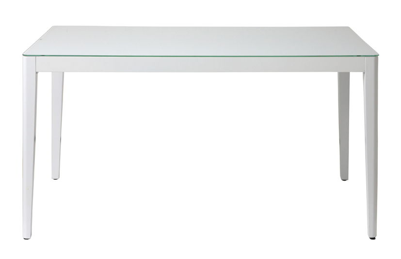 With -white- 幅1350ミリ ウィズ-ホワイト- ダイニングテーブル135 GDT-7671 <ポイント5倍!!>【テーブル ダイニングテーブル 木製テーブル ガラス 食卓テーブル シンプル 北欧 】