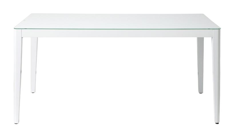 With -white- 幅1500ミリ ウィズ-ホワイト- ダイニングテーブル150 GDT-7681 <ポイント5倍!!>【テーブル ダイニングテーブル 木製テーブル ガラス 食卓テーブル 木目 シンプル 店舗 カフェ レストラン 飲食店 北欧 】