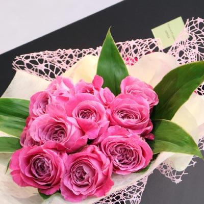 【クール送料込】 ピンクバラ12本の花束 ダズンローズ 品種指定 オールフォーラブ ギフトボックス 送料無料 ギフト 誕生日 ブーケ プレゼント 結婚祝 オール4ラブ+ 生花 お中元 贈答 内祝