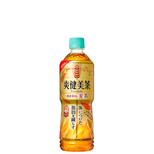爽健美茶 健康素材の麦茶 PET 600ML