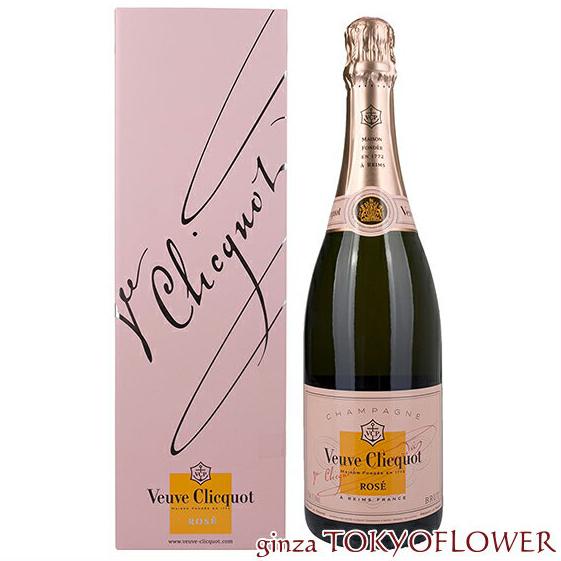 辛口 シャンパン ヴーヴクリコ ロゼ ローズラベル デザインボックス 750ML 2本セット