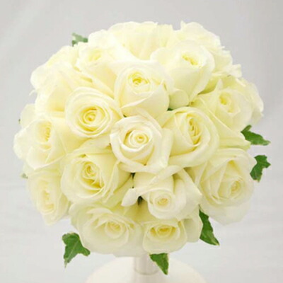 Tokyoflower Round Bouquet Of Fresh Flower Wedding Bouquet White