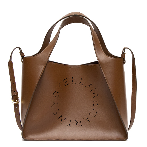2019年秋冬新作レディース ショルダーバッグ ステラマッカートニー STELLA McCARTNEY トートバッグ(2WAY仕様) CINNAMON シナモン Cross Body Bag Stella Logo Eco Soft Alter Nappa 513860 W8542 7773 【送料無料】*