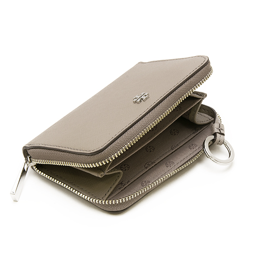 7e33a337de13 TORY BURCH Tolly Birch coin case coin purse ROBINSON ZIP COIN CASE FRENCH  GREY French gray 11169105 036
